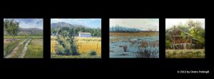 Landscapes by Utah Artist, Ondre Pettingill on display at historic Angelus Theatre in Spanish Fork